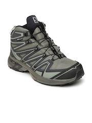 Salomon Men Grey X-Chase MID CS WP Trekking Shoes