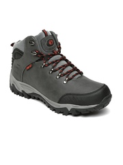 Boltio Men Grey High Top Trekking Shoes