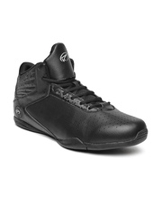 Boltio Men Black Perforated Basketball Shoes