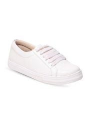 GNIST Women White Solid Sneakers