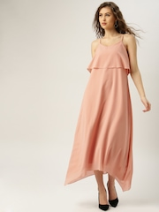 all about you from Deepika Padukone Pink Solid Maxi Dress