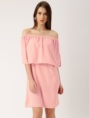 all about you from Deepika Padukone Women Pink Solid Shift Dress