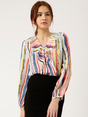 all about you from Deepika Padukone Women Multicoloured Regular Fit Printed Casual Shirt