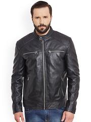 Justanned Black Leather Jacket