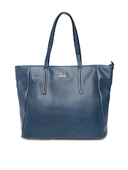 Lavie Teal Blue Leather Shoulder Bag