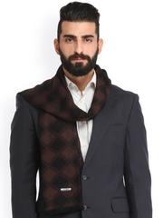 Alvaro Castagnino Coffee Brown & Black Checked Muffler