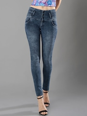 FabAlley Masaba Women Blue Skinny Fit High-Rise Clean Look Jeans