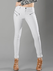 FabAlley Masaba Women White Skinny Fit Mid-Rise Clean Look Jeans