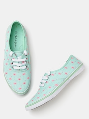 Mast & Harbour Women Green Printed Casual Shoes