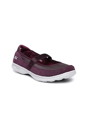 Skechers Women Burgundy Go Step Snap Walking Shoes