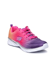 Skechers Girls Purple Swirly Girl Running Shoes