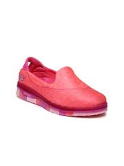 Skechers Girls Neon Pink Go Flex Walk Walking Shoes