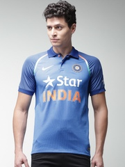 Nike Men Blue Printed India ODI Jersey T-shirt
