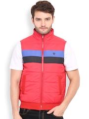 Duke Red Padded Sleeveless Lightweight Puffer Jacket