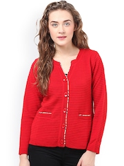 Duke Red Self-Striped Cardigan