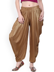 Ira Soleil Gold-Toned Shimmer Patiala
