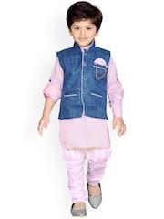 Aj DEZInES Boys Pink & Blue Clothing Set
