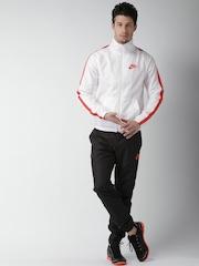 Nike Men White & Black AS M NSW Tracksuit