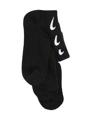 Nike Women Set of 3 Black Ankle-Length Socks