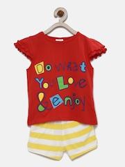 FS Mini Klub Girls Red & Yellow Clothing Set