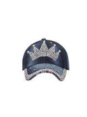 FabSeasons Women Blue Embellished Cap