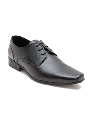 Red Tape Men Black Genuine Leather Formal Derbys