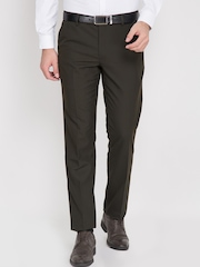 Black coffee Olive Green Formal Trousers
