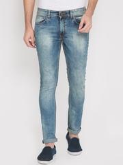 LOCOMOTIVE Men Blue Slim Fit Mid Rise Clean Look Jeans