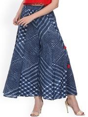 Varanga Blue Printed Palazzo Trousers