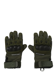 Royal Enfield Unisex Olive Green Military Motorcycle Gloves