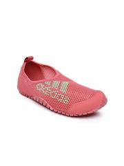 Adidas Kids Pink Woven Kurobe Slip-On Sneakers