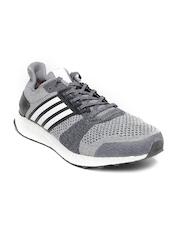 Adidas Men Grey Ultra Boost Running ST Shoes