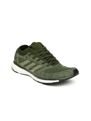 Adidas Unisex Olive Green Running Shoes