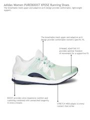 Adidas Women Green & White Pureboost Xpose Running Shoes