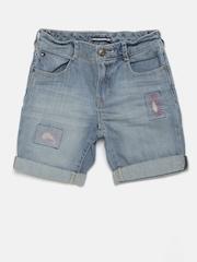 Tommy Hilfiger Girls Blue Washed Regular Fit Denim Shorts