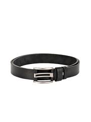BuckleUp Men Black Leather Belt