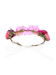The Hairklip Pink Floral Hair Wreath