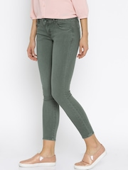 Deal Jeans Olive Green Skinny Fit Jeans