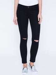 Tokyo Talkies Women Black Super Skinny Fit Mid-Rise Jeans