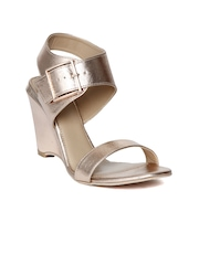 Catwalk Women Gold-Toned Solid Wedges