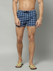 Marks & Spencer Blue Checked Boxers