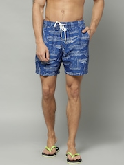 Marks & Spencer Blue Printed Swim Shorts