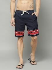 Marks & Spencer Navy & Red Swim Shorts