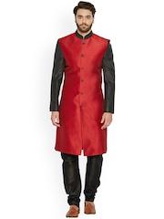irin Red & Black Sherwani