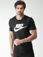 Nike Men Black Printed AS M NSW TEE ICON FUTURA T-shirt