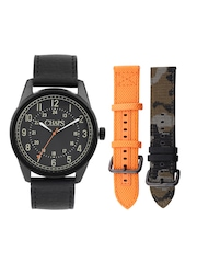 CHAPS Men Black Dial Watch with Interchangeable Straps CHP9003