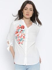 Vero Moda Women White Solid Casual Shirt