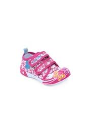 Lilliput Girls Pink Printed Sneakers