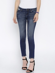 Flying Machine Women Blue Skinny Fit Mid Rise Jeans
