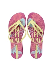iPanema Women Pink & Yellow Printed Flip-Flops